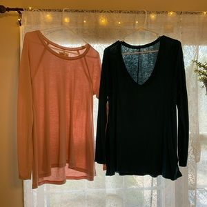 Two Hollister size large shirts